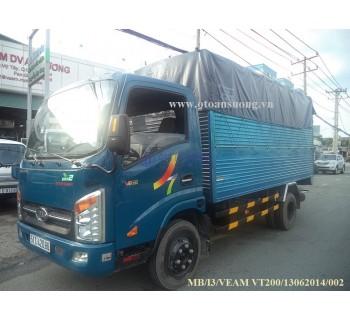 THÙNG MUI BẠT VEAM VT200 2 TẤN XANH
