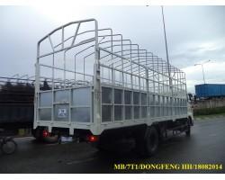 THÙNG MUI BẠT MỞ 7 BỬNG DONGFENG HH 9T B170