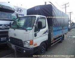 THÙNG MUI BẠT MỞ 5 BỬNG HYUNDAI HD65 2T5