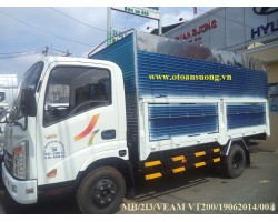 XE VEAM  VT200 2T MUI BẠT MỞ 3 BỬNG