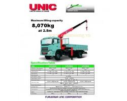 CẨU UNIC V800 8 TẤN