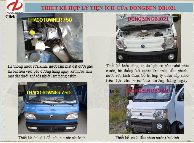 xe tải dongben - xe dongben 870kg